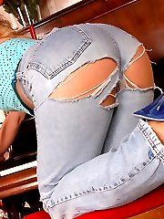 jeans and pantyhose