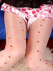 Angel in milky color and dotted Stocking