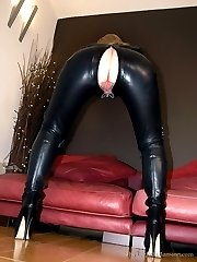 Leather Catsuit Worship