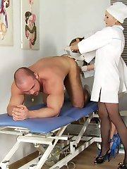 CFNM medical trampling and rectal exam