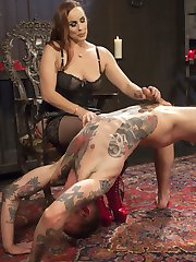 The beautiful Bella Rossi has the ever-willing Will Havoc at her service, and she uses him for all he's good for. With the perfect balance of abuse and reward, Bella makes Will worship her feet, teases him with her pussy, and inspects him for her use as a fuck toy. She warms him up with her cat o' nine tails, fits him with a dildo gag and rides his face, then uses his cock to fuck and cum to her own pleasure. Ultimately, Bella puts Will on all fours, and fucks him with an enormous strap on. Like the good boy that he is, he takes every punishment, pleases Bella in every way she demands, and earns the reward he is given.