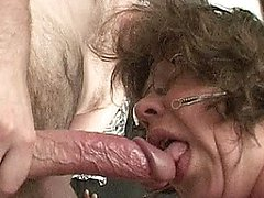 Suck that hard cock with your old mouth
