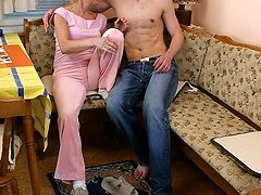 Grandmother woman sucks cock and fucked stiff