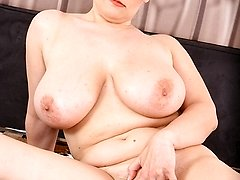 Big-titted mature babe Olarita gets her twat pounded by cock.