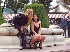 Coco de Mal is a leather bondage whore and is there only to serve her horny domme Nikki Thorne!...