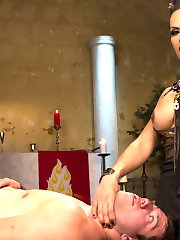 Goddess TS Foxxy teases and torments one of her servants with her hungry hard lady cock!!