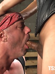 You can't move up the rank until you've had a session with TS boss bitch Jessica Foxx and her hard hungry cock! A. Arclyte learns his lesson and loves every single inch of it!