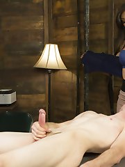 The stunning Venus Lux is hard at work again keeping her student teachers in line. One of her TA's Artemis Faux has been spending too much extra curricular time with his students and needs to be punished! Luckily for him Venus Lux is the perfect administrator for this slutty job. Deep throat cock sucking, hard fucking and a face full of cum make this one hot for teacher shoot!