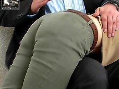 Cute oriental spanked on her pert little ass