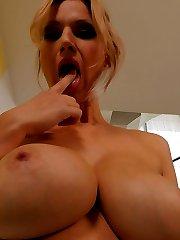 Carol Gold Enormous Tits, Panties, Bra, Nylons Secretary