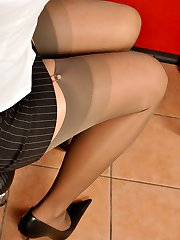 Sophia Million in rht stockings