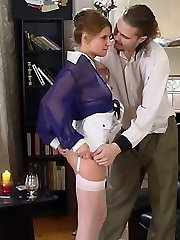 Fancy milky-stockinged honey getting to drunk nylon sex with her boyfriend