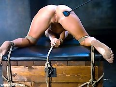20 year old Ashli Orion was extremely excited about being tied up and punished for the first...