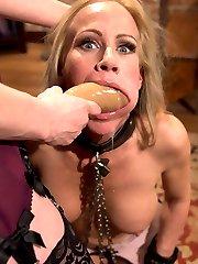 Perverse employment recruiter Maitresse Madeline dominates desperate MILF housewife Simone Sonay...
