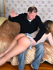 Briella Jaden Spanked by Client