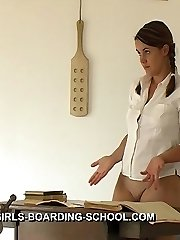 Palm punishments in the classroom for school girl in tears