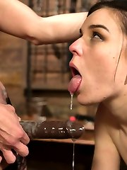 Local model Juliette March enjoys pushing her limits with tough bondage and heavy corporal...