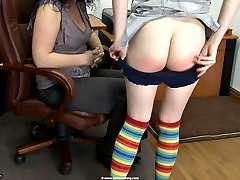 Anita's Bare Bottom Workplace Discipline