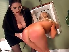 Jolean is forced to strip her clothes and gets pulled across her boss lap for a dose of OTK...