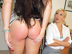 Madison Spanked by New Boss