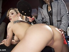 Dalia Sky enters Lea Lexis sex toy store looking to spice things up and gets way more than she...