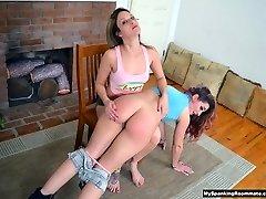 Briella Jaden Spanks New Roommate Savannah Fox