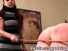 The school girl in this spanking video doesn't mind if she leaves the house looking like slob. Thankfully her aunt is there to whip this school girl into shape.