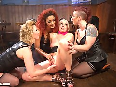 Welcome back to the salacious dyke bar where insatiable bartender Mistress Kara instigates kinky...