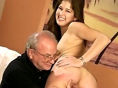 Beautiful naked girl exposes her tight cunt and ass during hard otk spanking