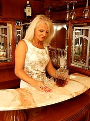 Thats one naughty mature barmaid