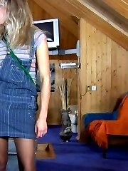 Strap-on armed chick is about to get a piece of guys ass in a billiard room