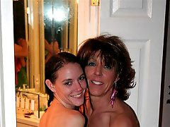 BI Milf and HOT Teen drink PISS in Bathtub