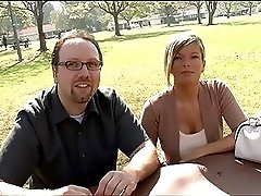 Pretty blonde wife lets another man fuck her while her hubby watches