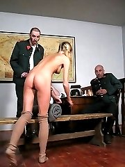 Brutal canings and humiliation for young innocent looking girls