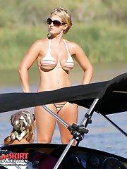 Hot amateurs pose like bikini models