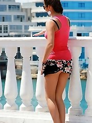 Mini skirts worn by naughty amateurs