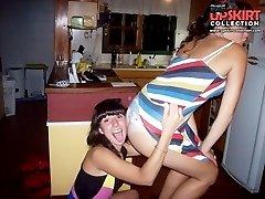 Hot upskirt girls have a blast