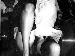 More dirty dames from the 1950s! Hairy pussy sheer nylon and didlo fun!