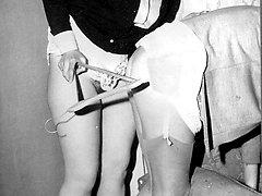 More vintage girl on girl hairy beaver munchers!