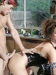 Renee Morgan, Marc Wallice in sexy biker chick is fucked in a vintage xxx video