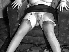Nylons, garters, muff and real boobies! Heaven 1960s style!