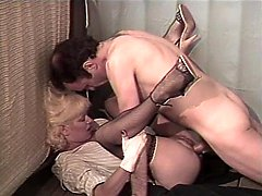 Al Brown, Sheri St. Clair, Billy Joe Fields in vintage sex scene