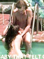 Seventies poolside blowjob