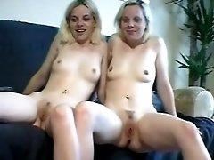 Identical twin girls get naked