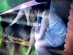 Passionate love of two ladies caught on tape