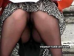 Upskirt finds fromRussian park filled with nyloned girls and bare-leg chicks