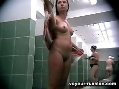 Slightly plump milf supplying voyeur with stunningly hot jack-off friendly content in locker room