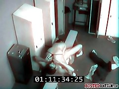 Caught on CCTV while fucking her instructor