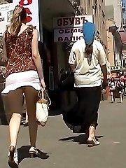 The nasty video with hot upskirt closeups