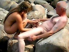 Amateur photos taken from hidden cameras on the nudist beaches